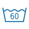Legfeljebb 60 °C vízben mosható