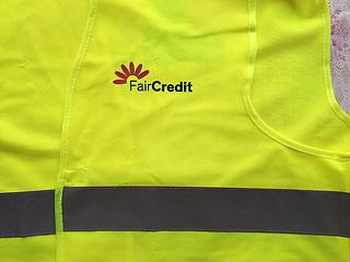 sítotisk na reflexní vesta fair credit