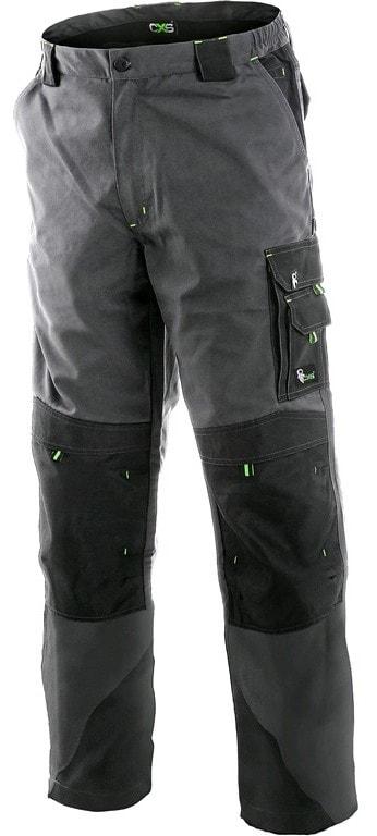 Pracovní kalhoty SIRIUS NIKOLAS - Šedá / zelená | 62