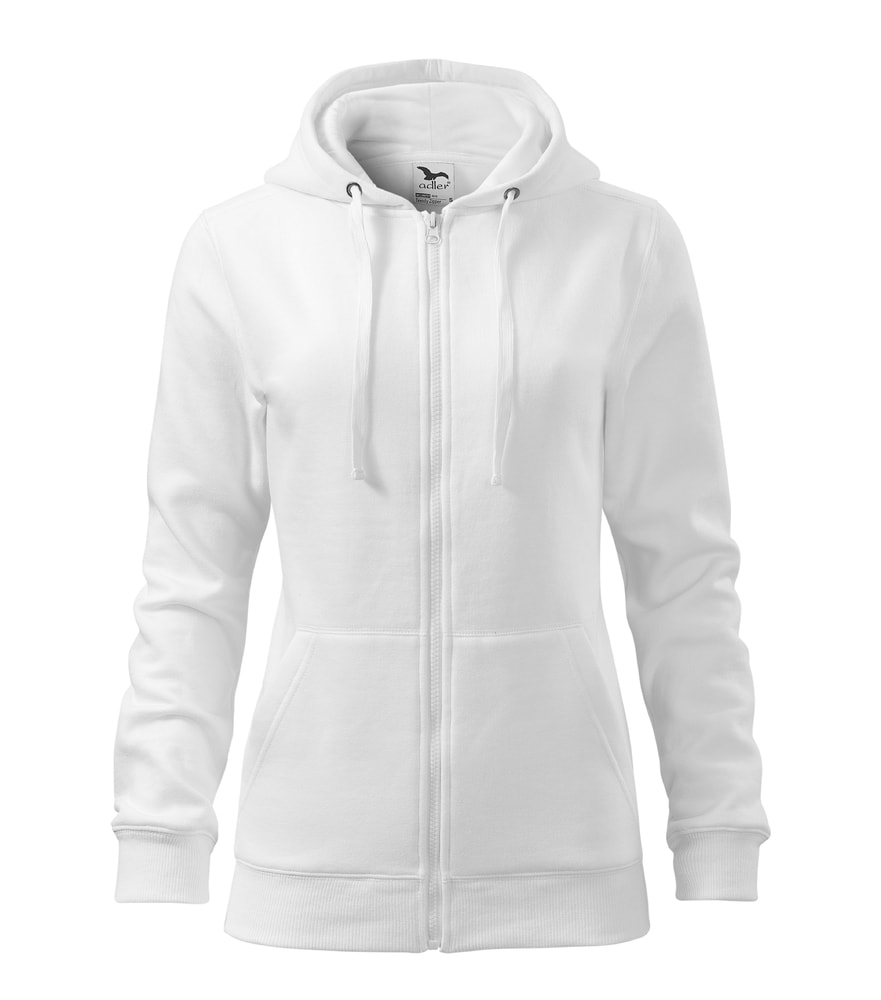 Dámská mikina Trendy Zipper - Bílá | S