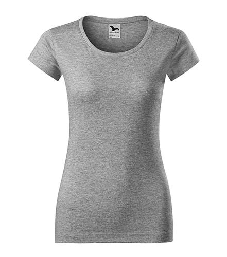 Dámské tričko Viper - Tmavě šedý melír | S