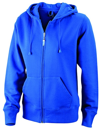 Dámská mikina na zip s kapucí JN053 - Královská modrá | S