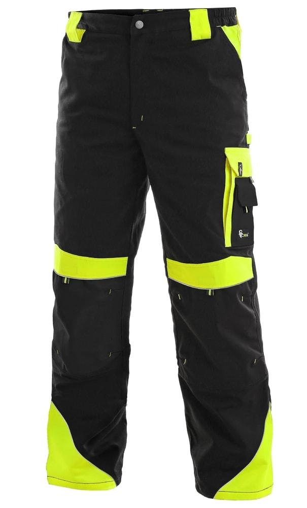 Pracovní kalhoty SIRIUS BRIGHTON - Černá / žlutá | 62