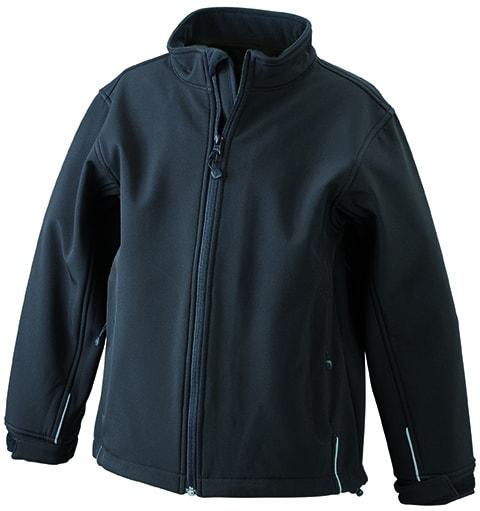 Dětská softshellová bunda JN135k - Černá | XXL