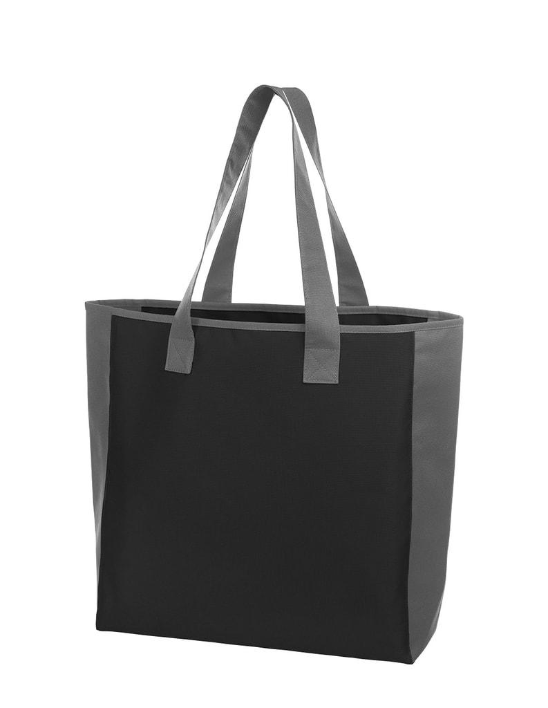 Nákupní taška OPTION - Černá / šedá / bílá