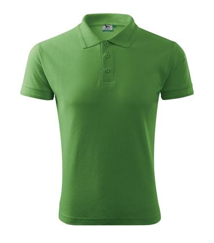 Pánská polokošile Pique Polo - Trávově zelená   L