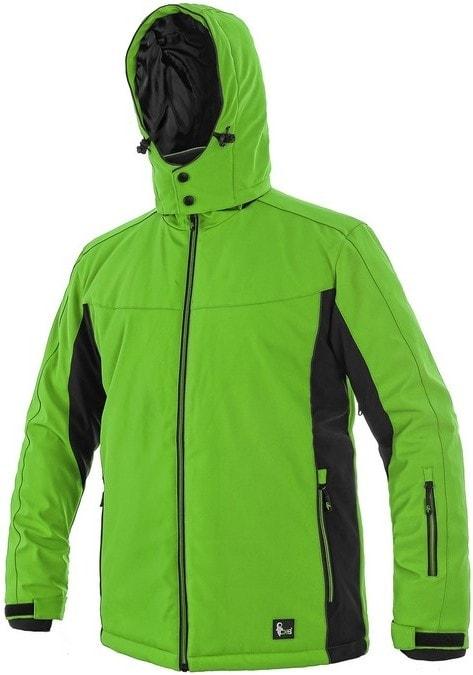 Pánská zateplená softshellová bunda VEGAS - Zelená / černá | XXXL