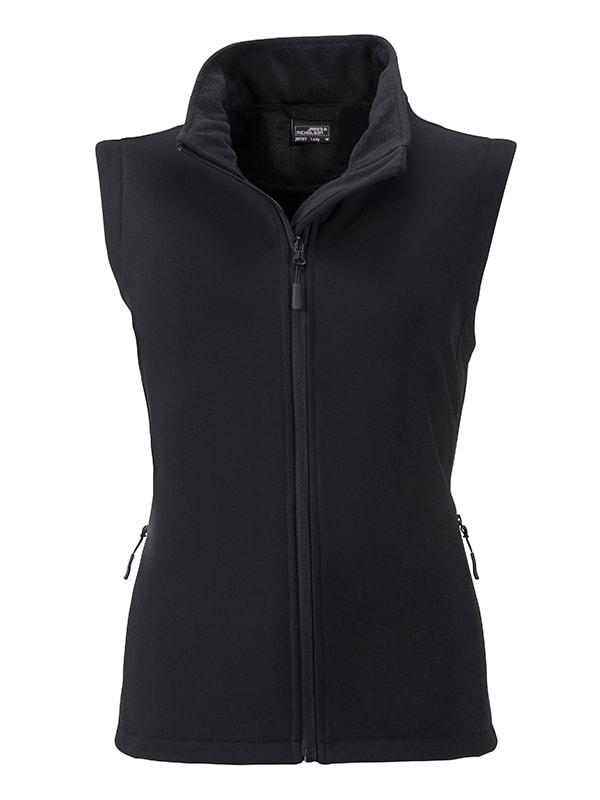 Dámská softshellová vesta JN1127 - Černá / černá | XXL