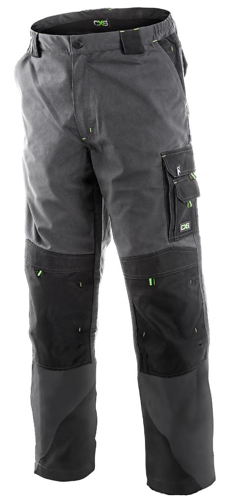 Pracovní kalhoty SIRIUS NIKOLAS - Šedá / zelená | 64
