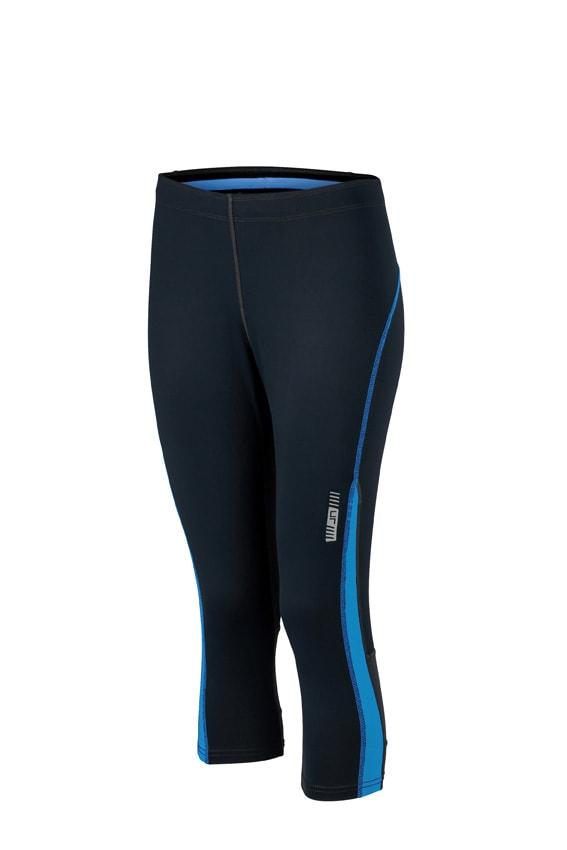 Dámské sportovní 3/4 kalhoty JN481 - Černá / atlantik | XL