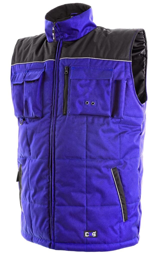 Zateplená pracovní vesta SEATTLE - Modrá / černá | XL