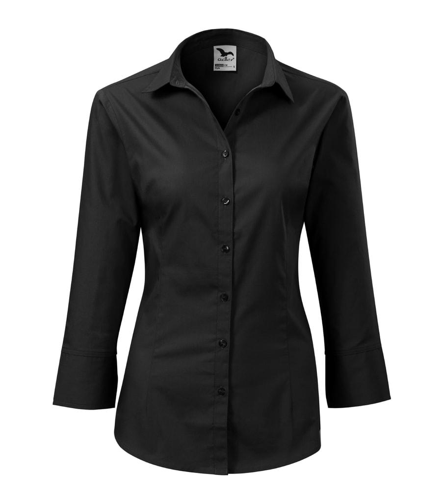 Adler Dámska košeľa s trojštvrťovým rukávom Style - Černá | L