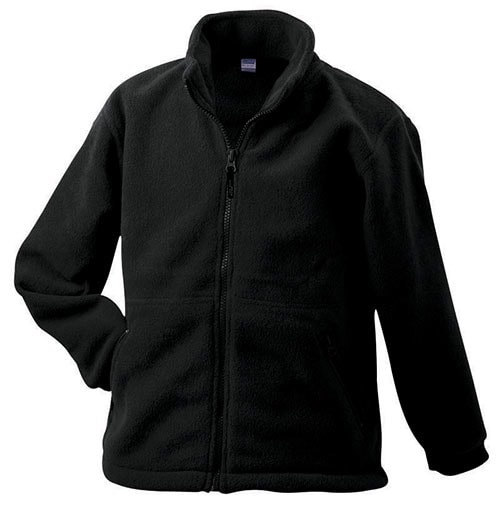 Dětská fleece mikina JN044k - Černá | S
