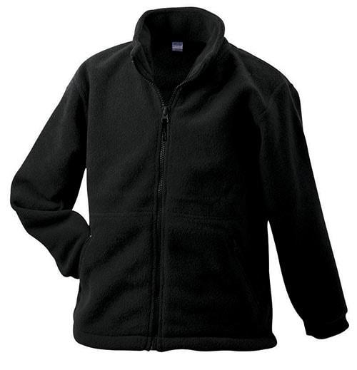 Dětská fleece mikina JN044k - Černá | XL