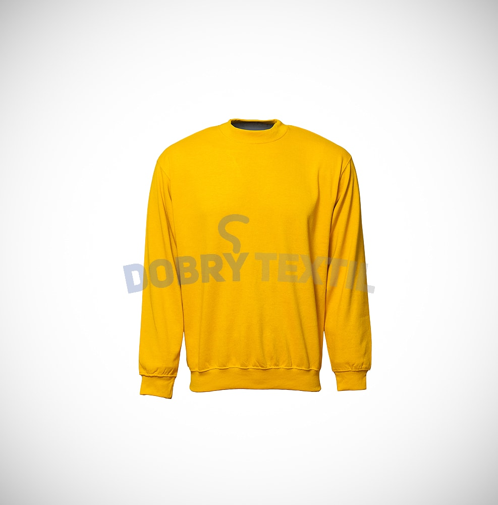 Mikina bez kapuce - Žlutá | S