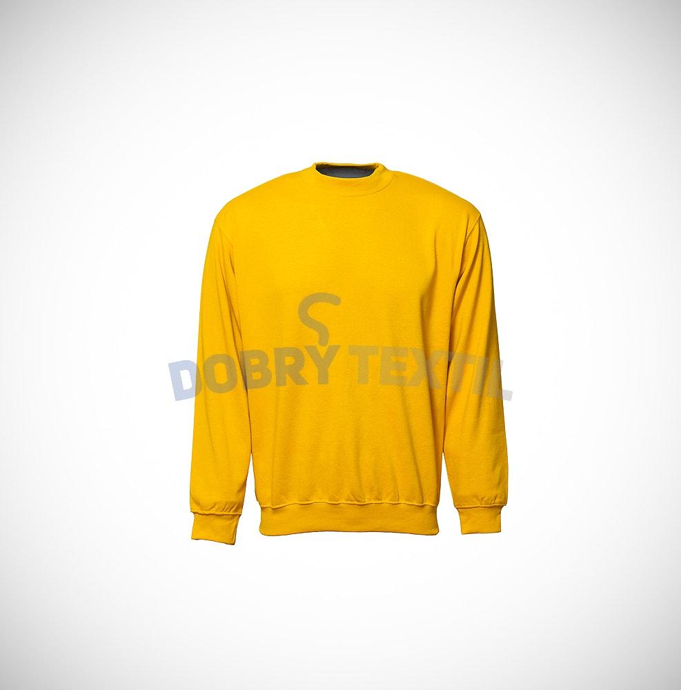 Mikina bez kapuce - Žlutá | XXXL
