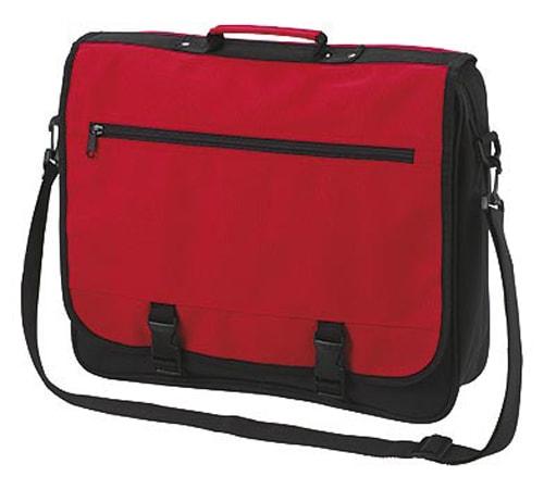 Velká taška přes rameno BUSINESS - Červená
