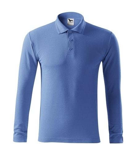 Pique pánská polokošile s dlouhým rukávem Adler - Azurově modrá | XL