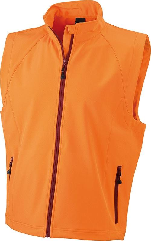 Pánská softshellová vesta JN1022 - Oranžová | XXXL
