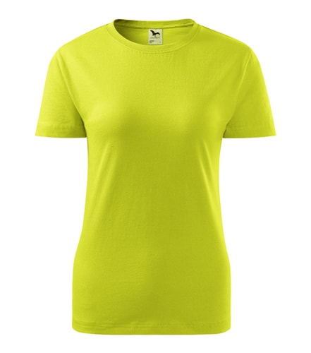 Dámské tričko Basic Adler - Limetková | M