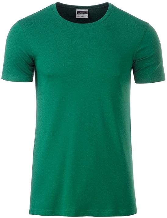 Klasické pánské tričko z biobavlny 8008 - Irská zelená | M