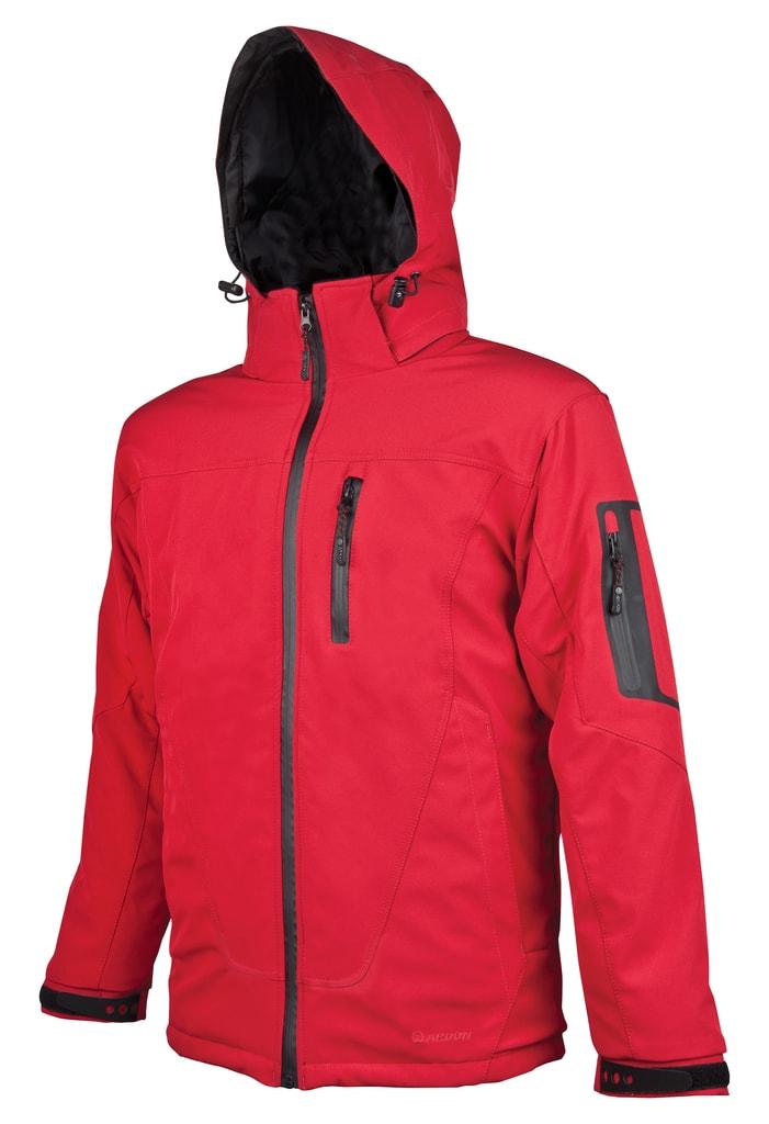 Zimní pánská softshellová bunda Spirit Winter - Červená | XXXL