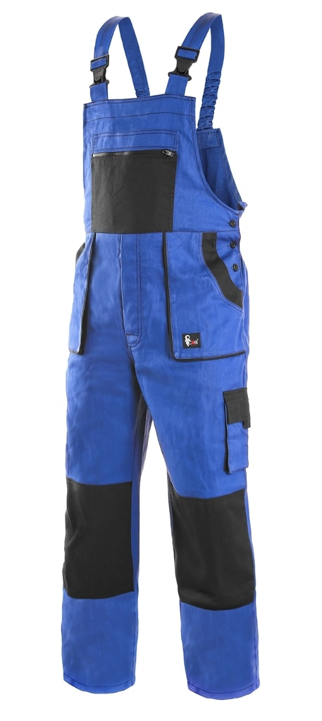 Zateplené montérky s laclem CSX LUXY MARTIN - Modrá / černá   54