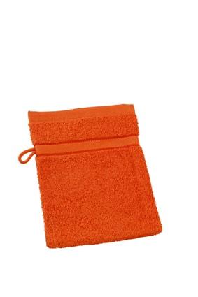 Myrtle Beach Umývacia froté žinka MB435 - Oranžová | 15 x 21 cm