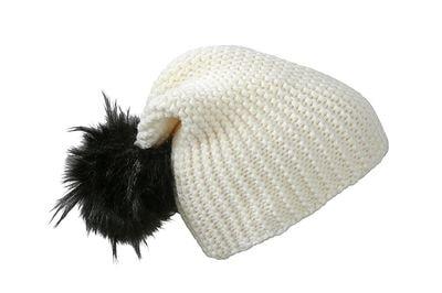 Zimní pletená čepice MB7984 - Bílá / černá
