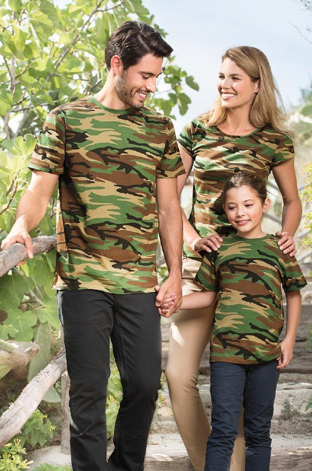 Dětské maskáčové tričko Camouflage Maskáčová zelená  8d840886627