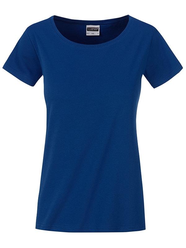 Klasické dámské tričko z biobavlny 8007 - Tmavá královská modrá | M