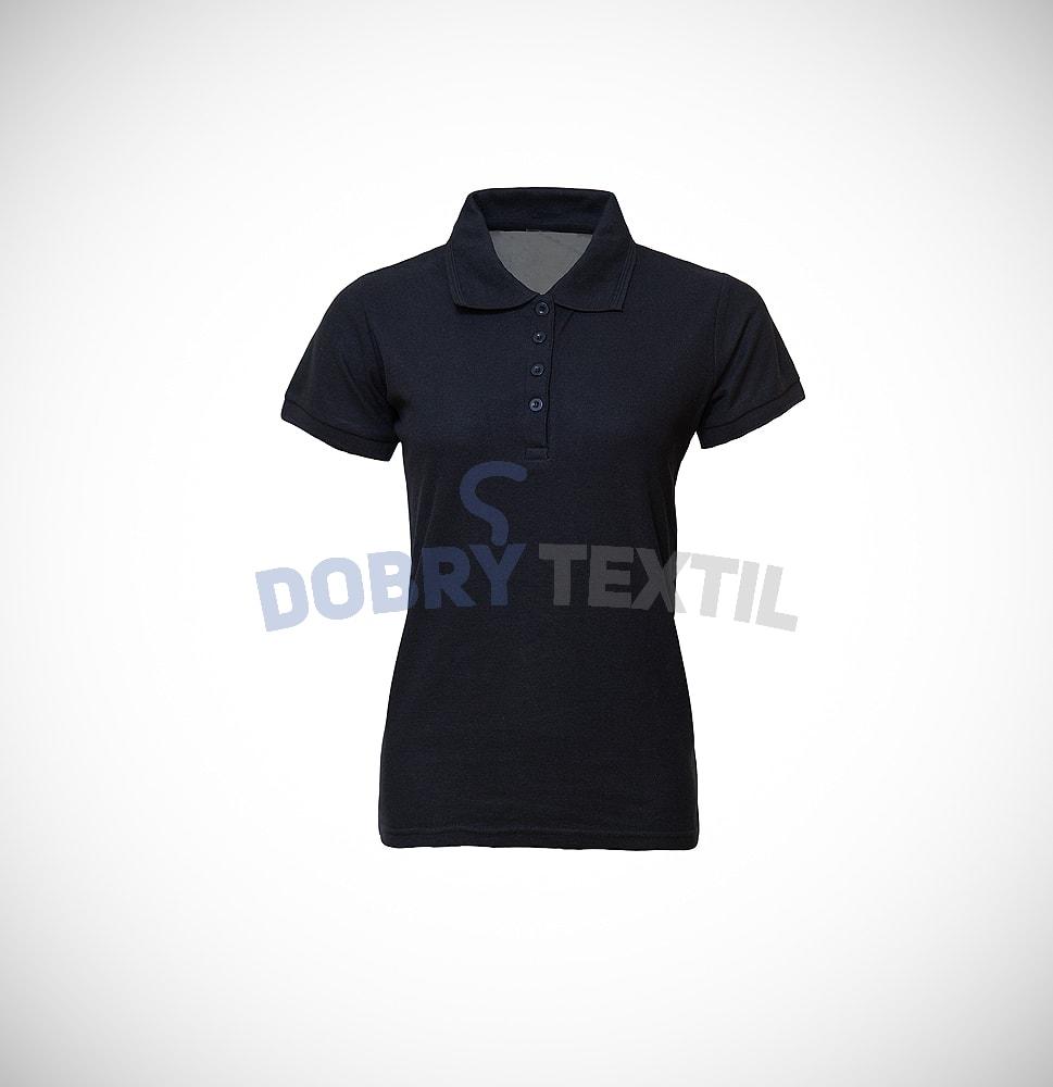 Pique dámská polokošile s kapsičkou - Černá | L
