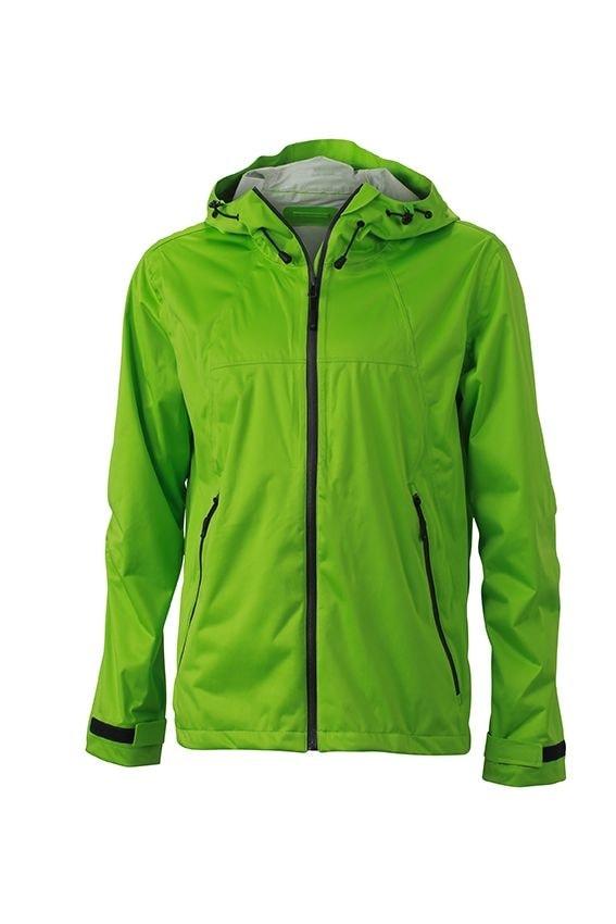 Pánská softshellová bunda s kapucí JN1098 - Jarně zelená / šedá | XXL