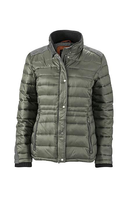 Dámská zimní bunda JN1099 - Borovicově zelená | S