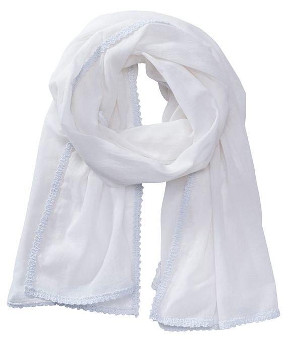 Bavlněná šála MB6404 - Bílá