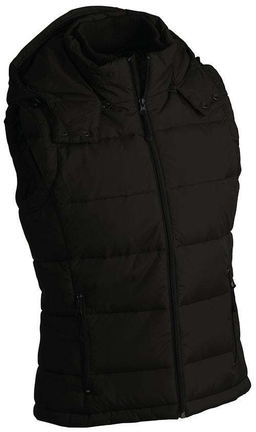 Pánská zimní vesta s kapucí JN1004 - Černá | S