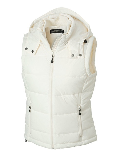 Dámská zimní vesta s kapucí JN1005 - Přírodní | S