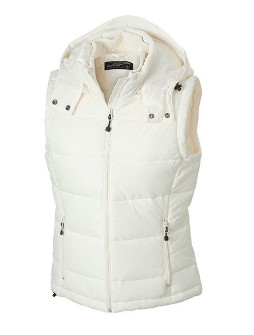 Dámská zimní vesta s kapucí JN1005 - Přírodní   XXL