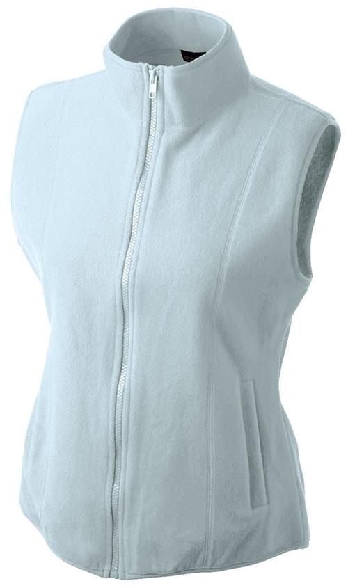 Dámská fleecová vesta JN048 - Světle modrá | S