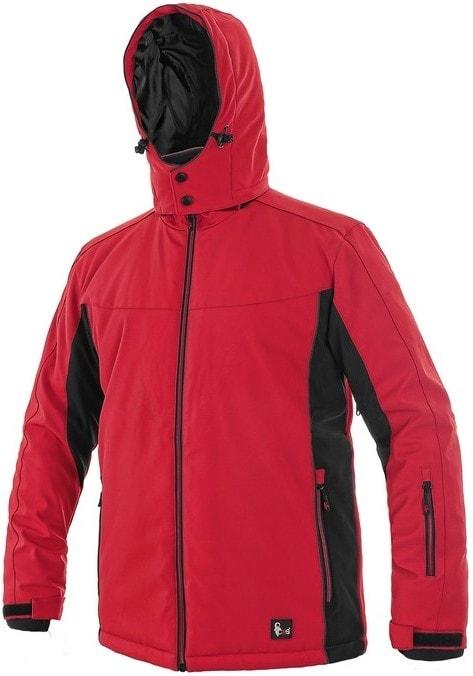 Pánská zateplená softshellová bunda VEGAS - Červená / černá | XXXL