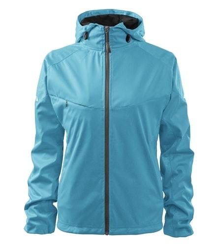 Lehká dámská softshellová bunda COOL - Tyrkysová   M