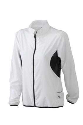 Dámská běžecká bunda JN443 - Bílá / černá | XXL