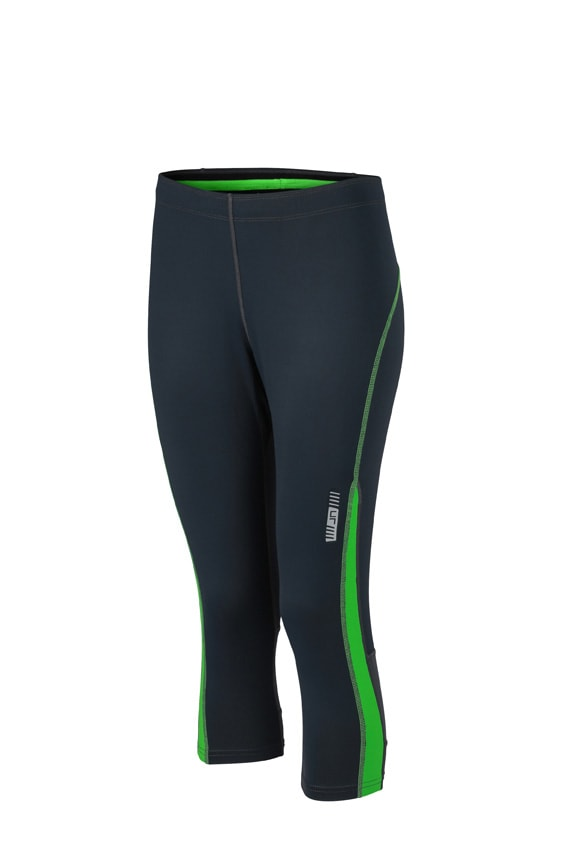 Dámské sportovní 3/4 kalhoty JN481 - Ocelově šedá / zelená | M