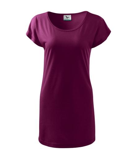 Dámské dlouhé tričko - Fuchsiová | S