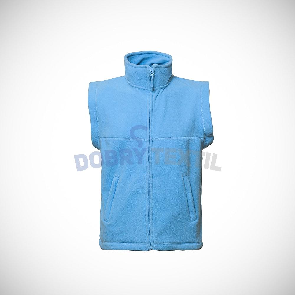 Fleecová vesta - Světle modrá | XXXL