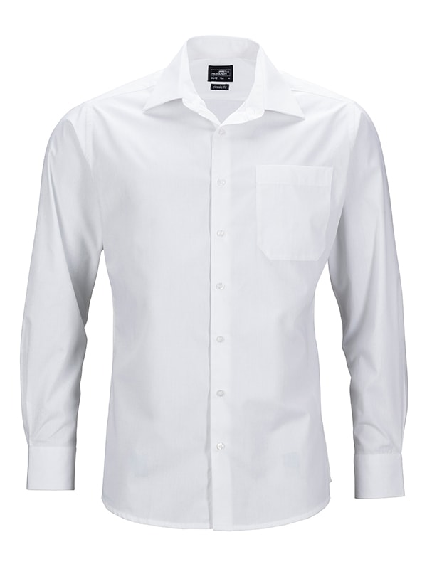 Pánská košile s dlouhým rukávem JN642 - Bílá   S