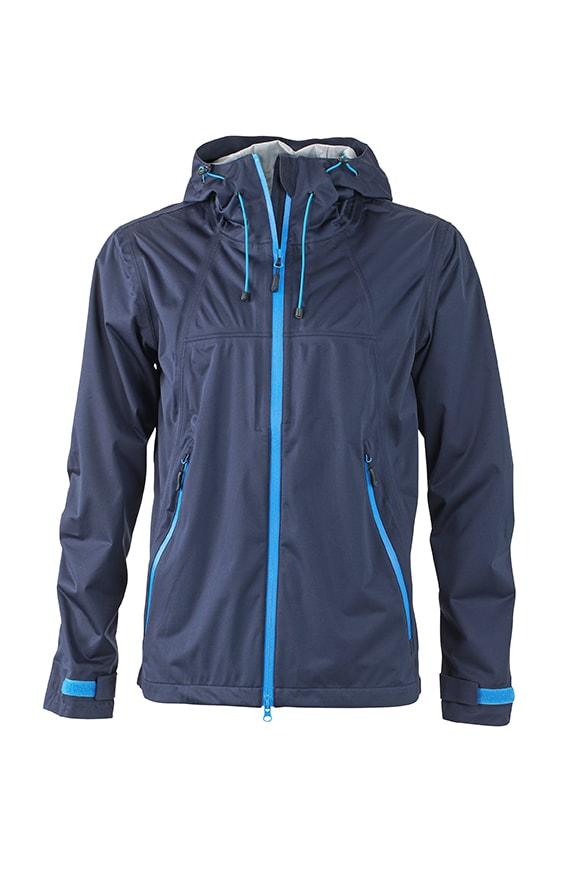 Pánská softshellová bunda s kapucí JN1098 - Tmavě modrá / kobaltová | XXXL