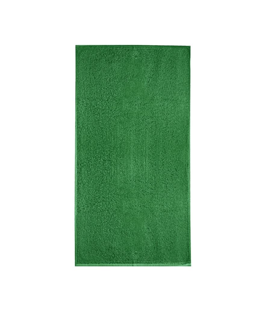 Ručník bez bordury Terry Towel - Středně zelená | 50 x 100 cm