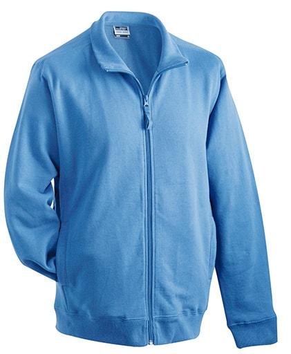 Pánská mikina na zip bez kapuce JN058 - Modrá | XXXL