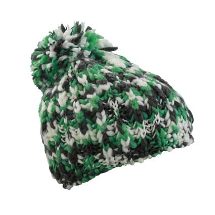 Pletená čepice s bambulí MB7977 - Zelená / bílá | uni